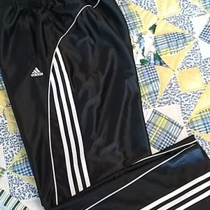 Adidas signature 3 stripe black/white track pants